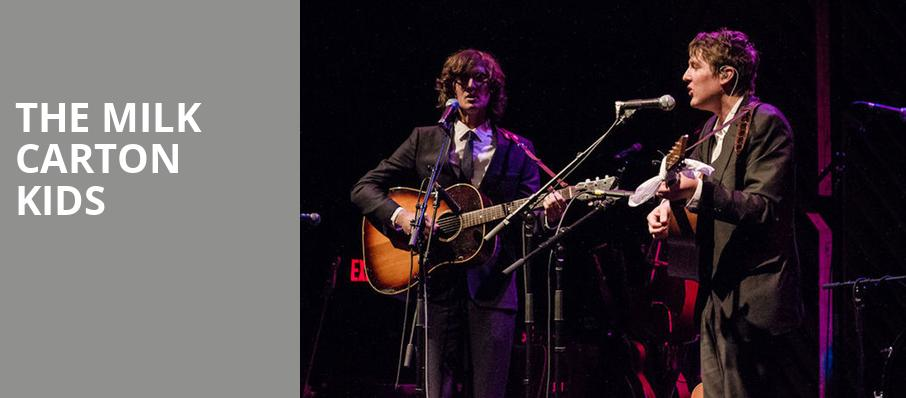 The Milk Carton Kids, College Street Music Hall, New Haven
