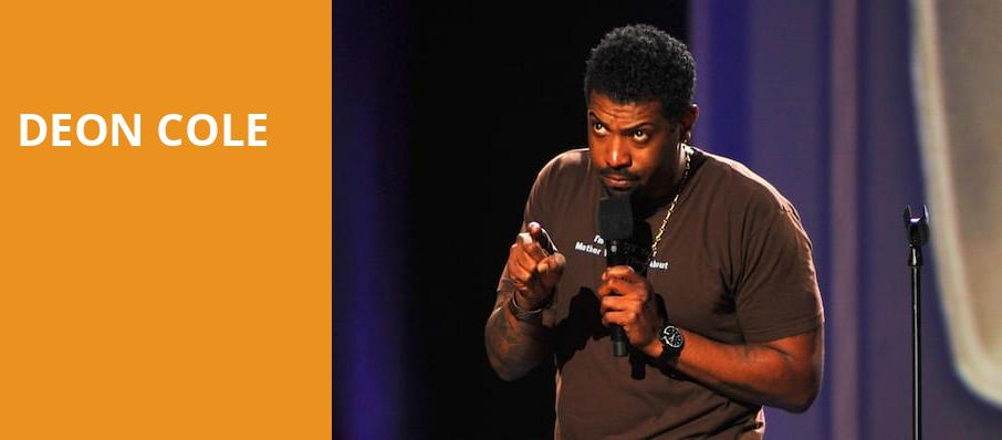 Deon Cole, College Street Music Hall, New Haven